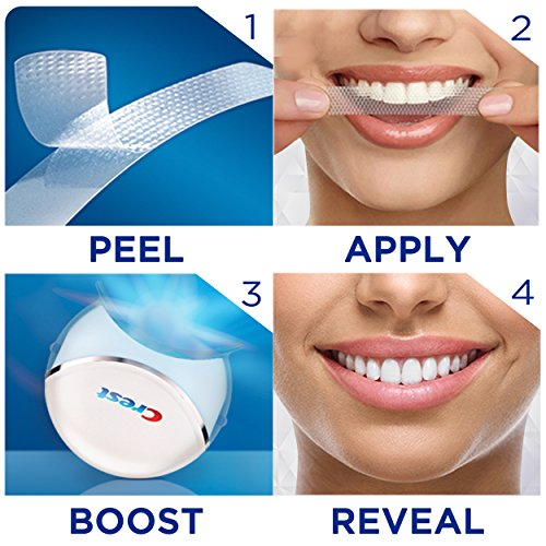 Crest 3d White Whitestrips With Light Teeth Whitening Kit 10